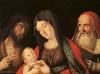 Mária gyermekével és két szenttel
